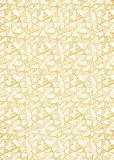 Gold foil decorative background with abstract geometric pattern.