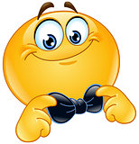 Emoticon with bow tie