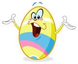Cheerful easter egg