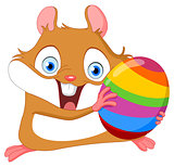 Cute hamster Easter