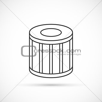Car oil filter outline icon