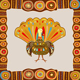 Vector illustration happy Thanksgiving painting hand draw bright