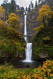 Multnomah Falls in Autumn
