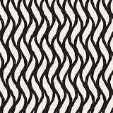 Vector Seamless Hand Drawn Vertical Wavy Lines Pattern