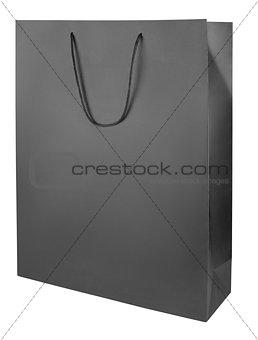 Black shopping bag on white