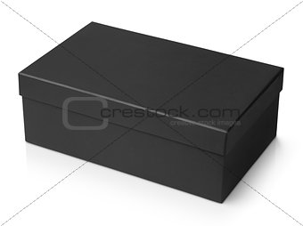 Black shoe box isolated on white