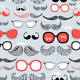 Graphic pattern of different mustache