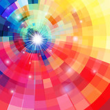Abstract bright colorful kaleidoscope