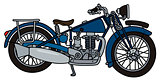 Vintage blue motorcycle