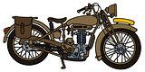Vintage sand motorcycle
