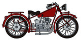 Vintage red motorcycle