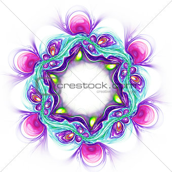 Abstract violet flower on white background