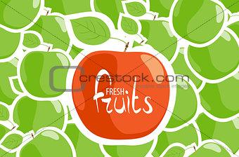 green apple close up