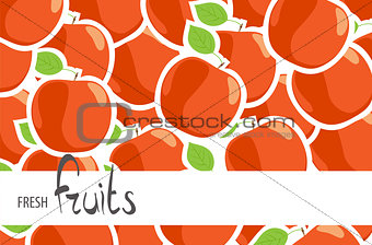 A lot of red ripe apples
