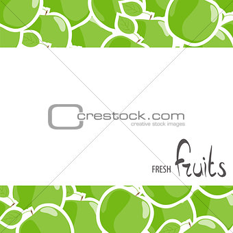 green apples on the background