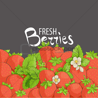 fragile and juicy strawberries
