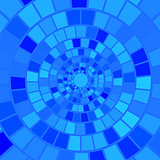 Blue Mosaic Background.