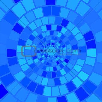 Blue Mosaic Background.