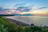 Sunset at Northumberland Strait near the Confederation Bridge ma