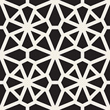 Vector Seamless Black and White Mosaic Lace Pattern