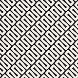 Vector Seamless Diagonal Black and White Wavy Lines Pattern