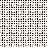Vector Seamless Black and White Triangle Pattern