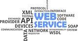 word cloud - web service