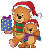 Christmas bears theme image 1