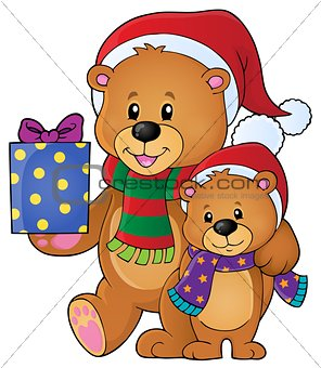 Christmas bears theme image 1