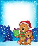 Christmas bears theme image 3