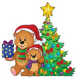 Christmas bears theme image 4