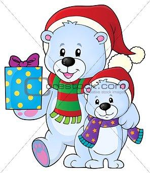 Christmas bears theme image 5