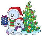 Christmas bears theme image 6