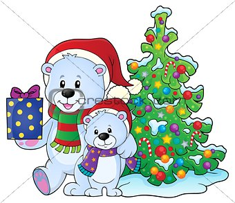 Christmas bears theme image 6