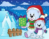 Christmas bears theme image 7