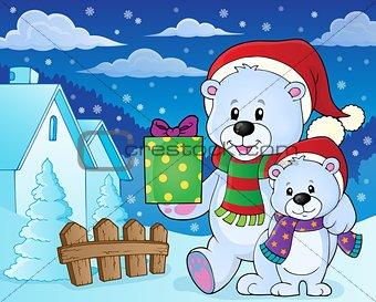 Christmas bears theme image 7