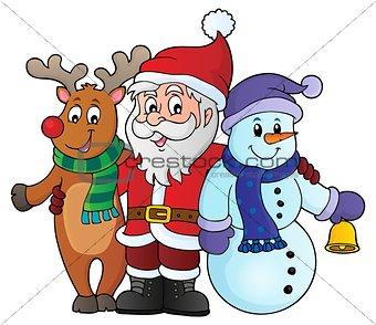 Christmas characters theme image 1