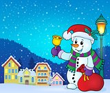 Christmas snowman topic image 7