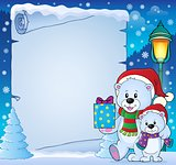 Parchment with Christmas bears theme 4
