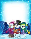 Snowmen carol singers theme image 3