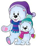 Stylized polar bears theme image 1