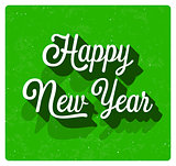 Happy New Year greeting card.