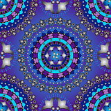 Silvery and violet-blue seamless pattern