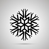 Complicated snowflake simple black icon