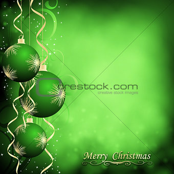 Abstract Christmas ball on New Year background.