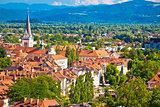 Ljubljana green cityscape aerial view