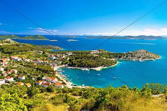 Adriatic archipelago aerial summer view