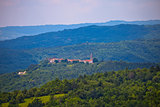 Istrian landscape and hill village Boljun