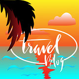 Vector handwritten typography. Travel blog lettering. For outdoors equipment advertising, websites, blogs