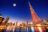 Burj Khalifa night landscape